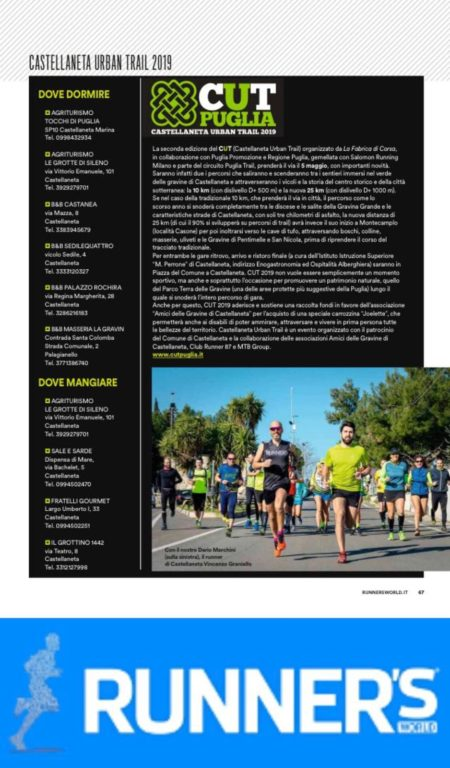 Runner's World Italia – Speciale Castellaneta Urban Trail 2019